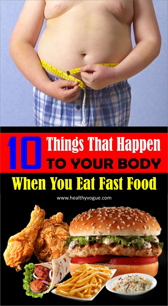 While an occasional night of fast food won't hurt, a habit of eating out could be doing a number on your health. Read on to learn the effects of fast food on your body. #fastfood #weightloss