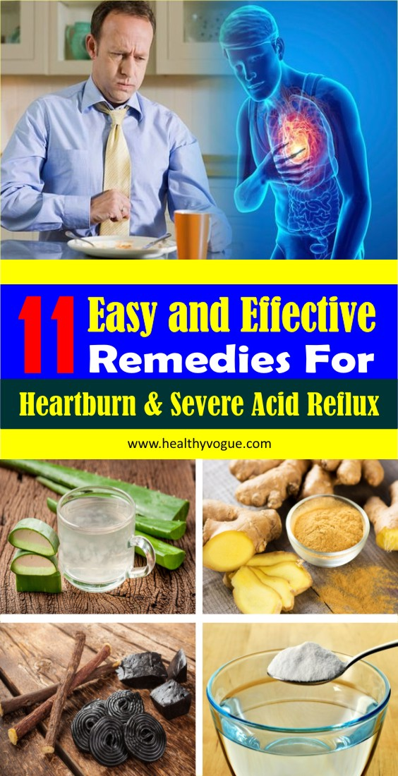 Here are 11 best home remedies for heartburn and severe acid reflux. #heartburnrelief #heartburnremedies