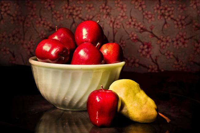 Fruits and veggies with fructose