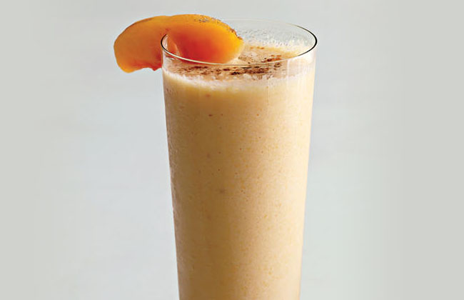 Smoothie with Peach Yogurt