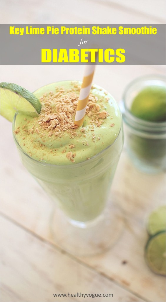 Key Lime Pie Protein Shake Smoothie for Diabetics