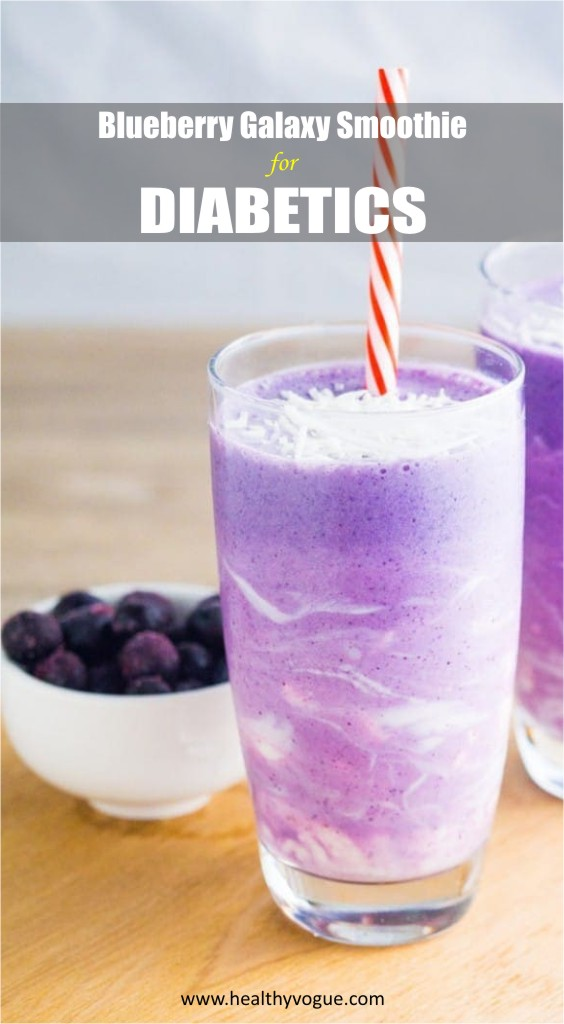 Blueberry Galaxy Smoothie for Diabetics