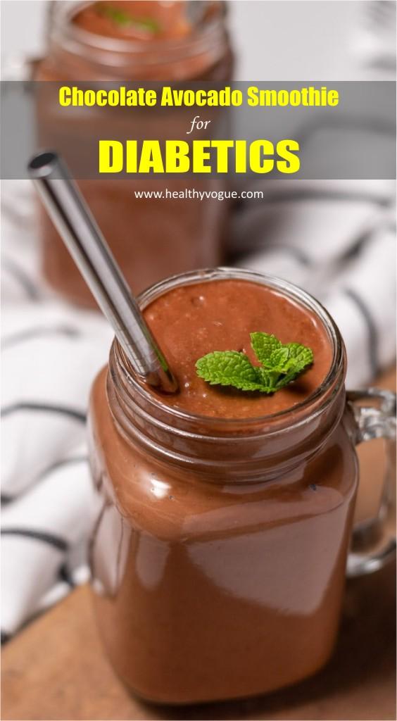 Chocolate Avocado Smoothie for Diabetics