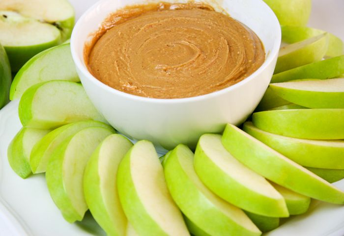 Apple and Peanut Butter after Workout