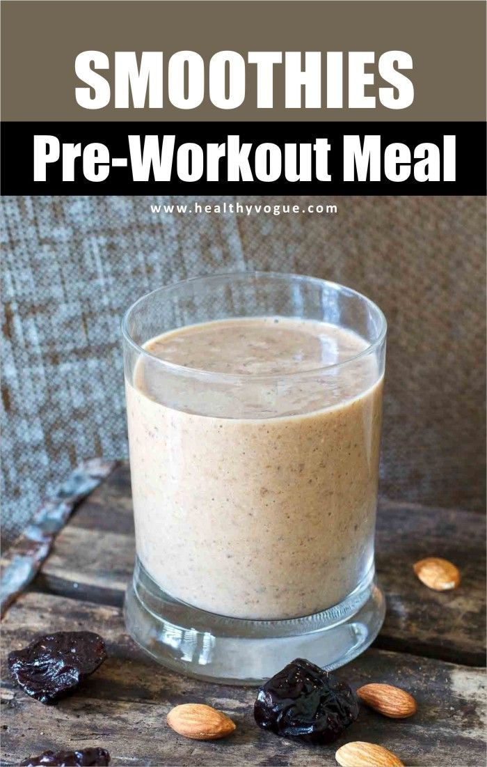 Pre Workout Smoothie for Muscle Gain
